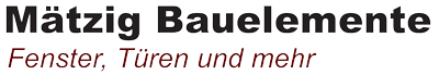 Mätzig Bauelemente Logo